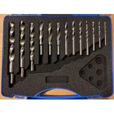 HSS wood twist drill set - 13 metric sizes