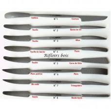 8 pcs - Full set of rifflers