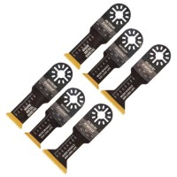 Oscillating blade kit 6pc wood BIM TiN coated