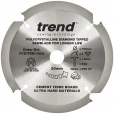 Fibreboard sawblade PCD 160mm x 4T x 20mm