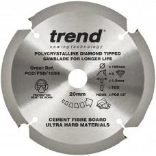 Fibreboard saw blade PCD 165mm x 4T x 20mm